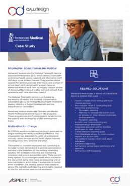 Aspect WFM Homecare Medical Case Study